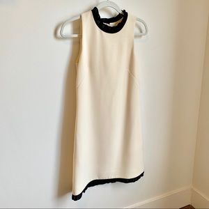 J Crew cream and black dress